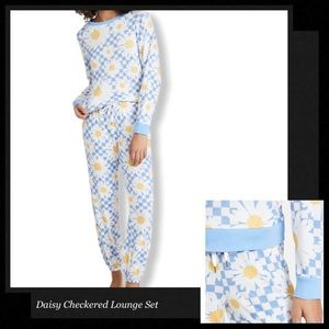 HONEYDEW INTIMATES Checkered Daisy Lounge Set